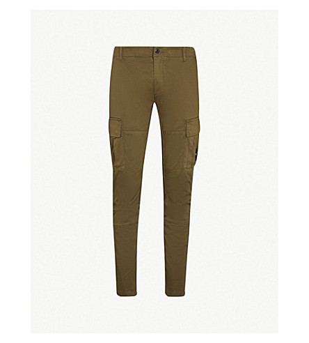 CP COMPANY Cargo ergonomic-fit cotton trousers (Olive