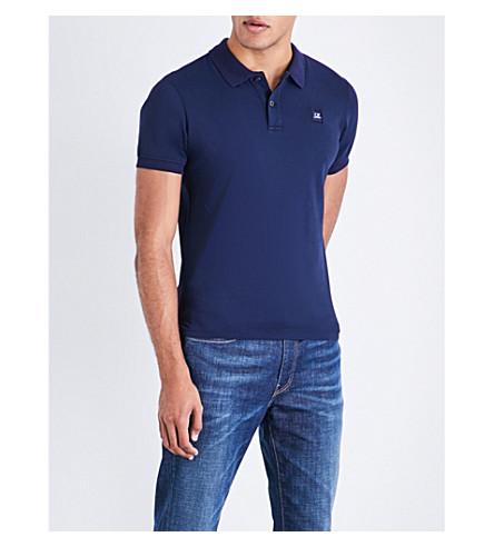 CP COMPANY Slim-fit cotton-piqué polo shirt (Indigo