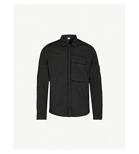 CP COMPANY Zip 软壳面料 overshirt (黑色