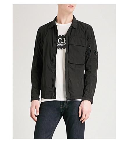 CP COMPANY Zip-up shell overshirt (Black
