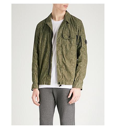CP COMPANY Camouflage-print shell cotton-blend overshirt (Khaki