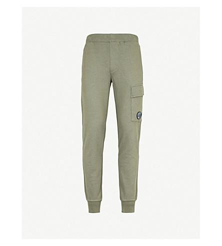 CP COMPANY Pocket lens cotton-jersey jogging bottoms (Olive