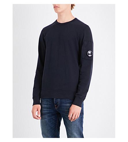 CP COMPANY Lens-detail cotton-jersey sweatshirt (Midnight