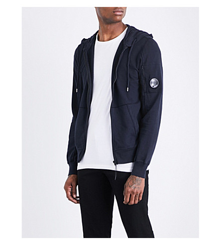 CP COMPANY Lens-detailed cotton-jersey hoody (Midnight