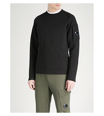 CP COMPANY Panelled neoprene sweatshirt (Black