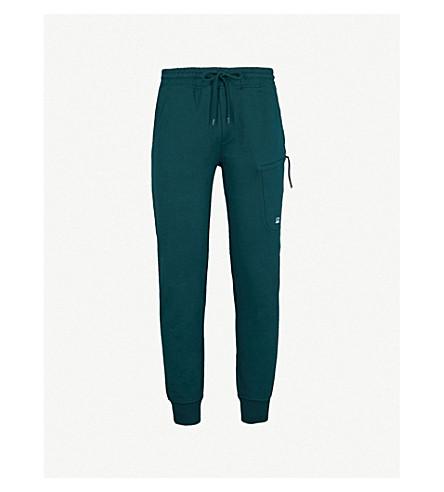 CP COMPANY Diagonal cotton-fleece jogging bottoms (Racing+green