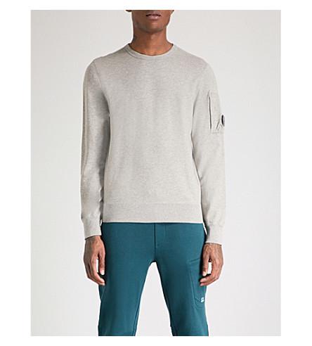 CP COMPANY Lens-detail cotton-jersey sweatshirt (Marl+grey