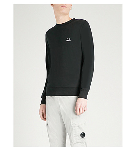 CP COMPANY Printed cotton-jersey sweatshirt (Black
