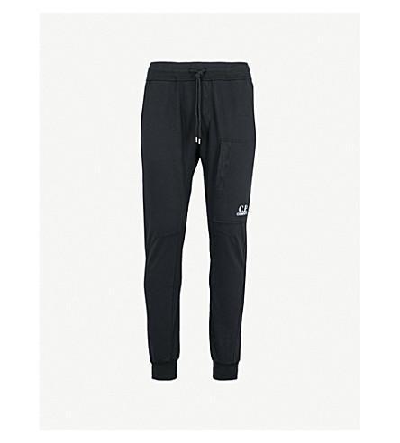 CP COMPANY Zip-pocket stretch-cotton jogging bottoms (Black