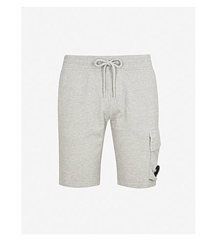 CP COMPANY 拉绳平纹针织棉短裤 (石灰泥 + 灰色