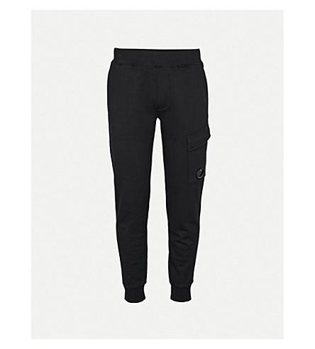 CP COMPANY Stretch-cotton jogging bottoms (Black