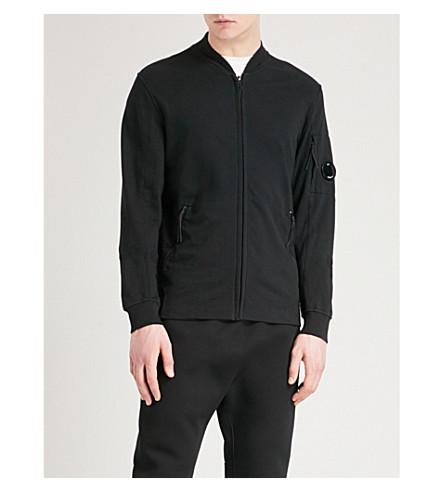 CP COMPANY 平纹针织棉羊毛飞行员夹克 (黑色