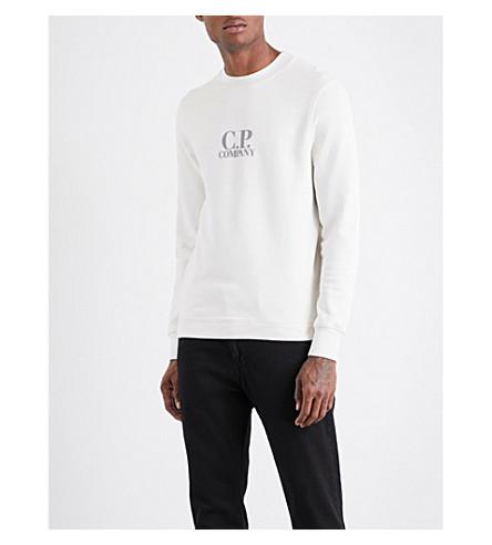 CP COMPANY Logo-print cotton sweatshirt (White