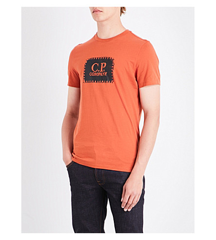 CP COMPANY Logo-print cotton-jersey T-shirt (Orange