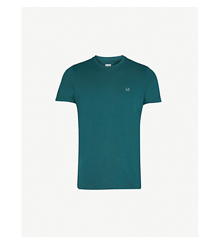 CP COMPANY Google Back cotton-jersey T-shirt (Racing+green