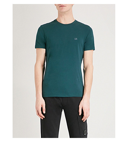 CP COMPANY Google Back cotton-jersey T-shirt (Racing+green