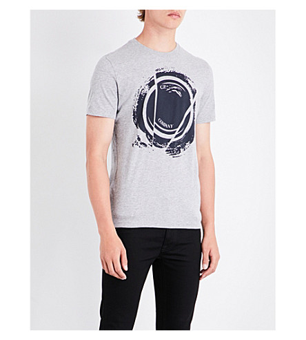 CP COMPANY Lens cotton-jersey T-shirt (Grey