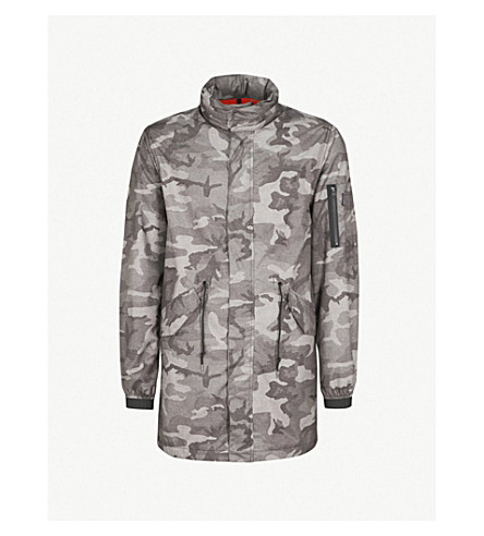 PENFIELD Pancho camouflage-print shell jacket (Grey