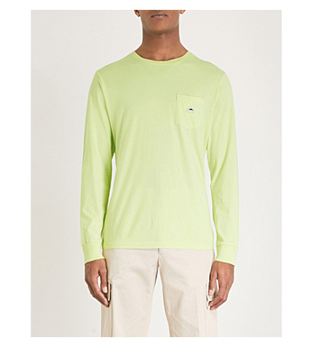 PENFIELD Friars cotton-jersey top (Shadow+lime