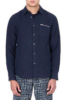 YMC Linen navy shirt