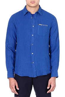 YMC Linen blue shirt