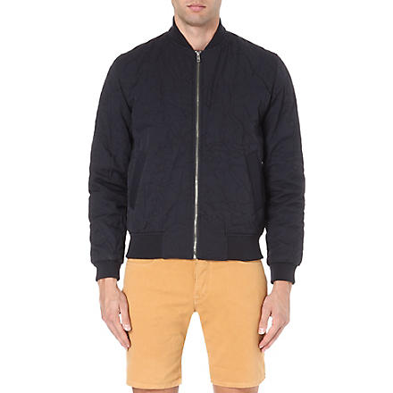 YMC Quilted bomber jacket (Navy