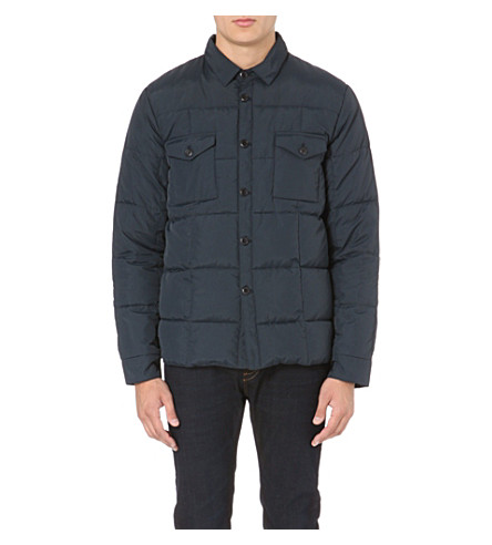 YMC Quilted down-filled jacket (Navy