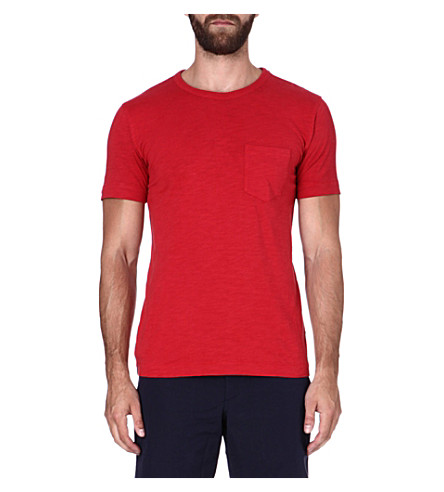 YMC Classic pocket t-shirt (Red