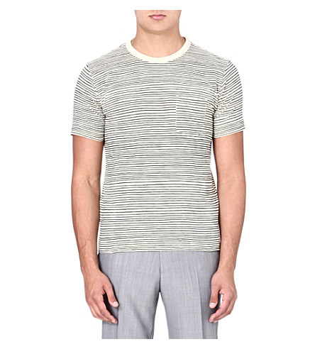 YMC Classic cotton pocket T-shirt (Ecru