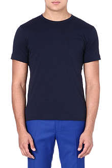 YMC Cotton colour-block T-shirt