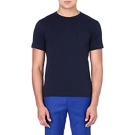 YMC Cotton colour-block T-shirt (Multi