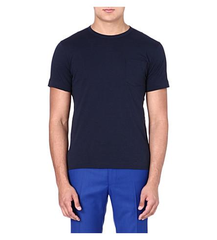YMC Cotton colour-block T-shirt (Multi
