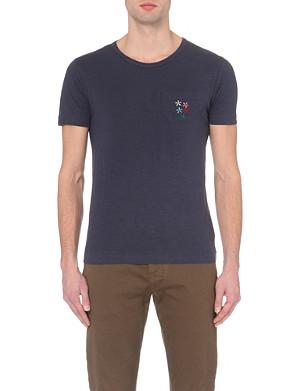 YMC Embroidered pocket t-shirt