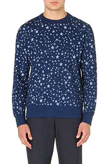 YMC Star-print cotton-jersey sweatshirt