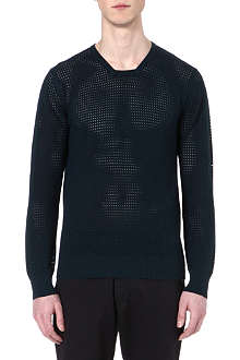 YMC Mesh knitted jumper