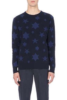 YMC Star-print knitted jumper
