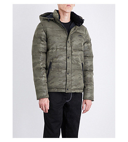 PENFIELD Camouflage-print Equinox shell-down jacket (Olive