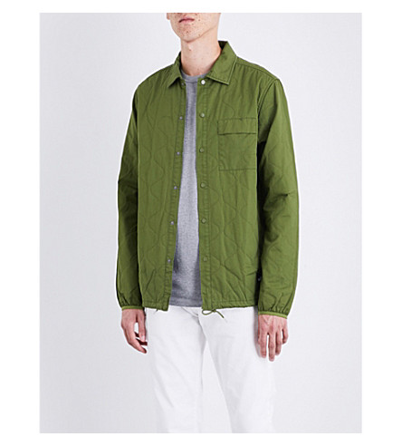 PENFIELD Blackstone quilted cotton overshirt (Olive