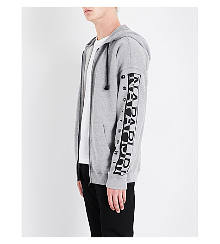 NAPAPIJRI Badstow cotton-jersey hoody (Mid+grey