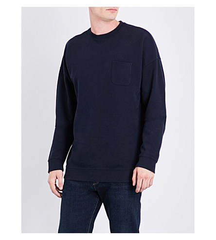 NAPAPIJRI Badstow cotton-blend sweathirt (Blue+marine