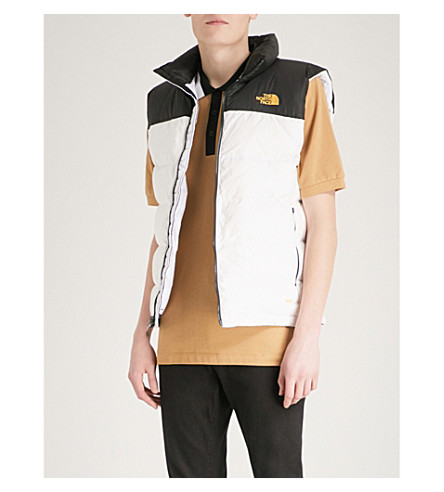 THE NORTH FACE Nuptse 2 shell-down gilet (White/+blk