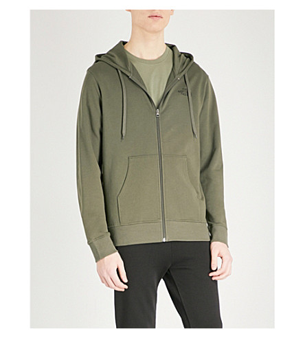 THE NORTH FACE Open Gate logo-print cotton-jersey hoody (Taupe++grn