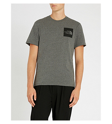 THE NORTH FACE Logo-print cotton-jersey T-shirt (Grey+heather