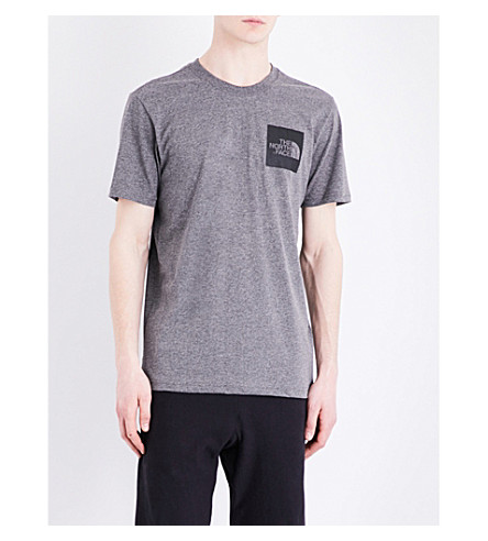 THE NORTH FACE Logo-print cotton-jersey T-shirt (Tnf+me+grey+hea