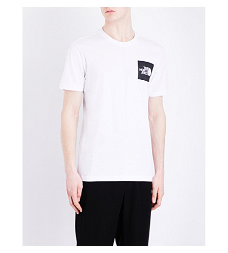 THE NORTH FACE Logo-print cotton-jersey T-shirt (Tnf+wh/tnf+bl