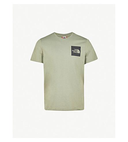 THE NORTH FACE Fine cotton-jersey T-shirt (Deep+lichen++grn