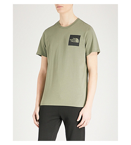 THE NORTH FACE Fine cotton-jersey T-shirt (Deep+lichen++grn