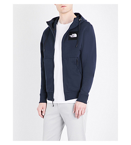 THE NORTH FACE Fine Zipper cotton-jersey hoody (Urban+navy