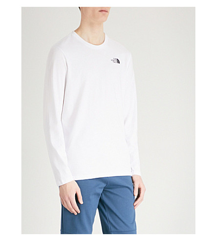 THE NORTH FACE Logo-print cotton-jersey top (White