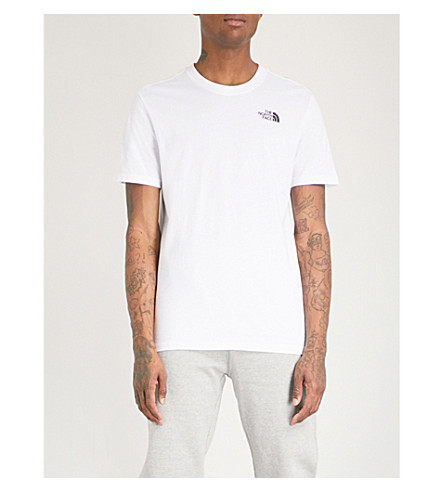 THE NORTH FACE Back logo-print cotton-jersey T-shirt (White